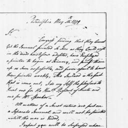 Document, 1779 May 14